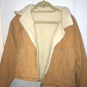 Tan fluffy lined jacket